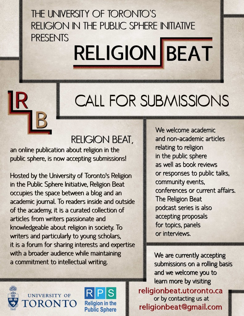 Religion Beat Call for Submissions